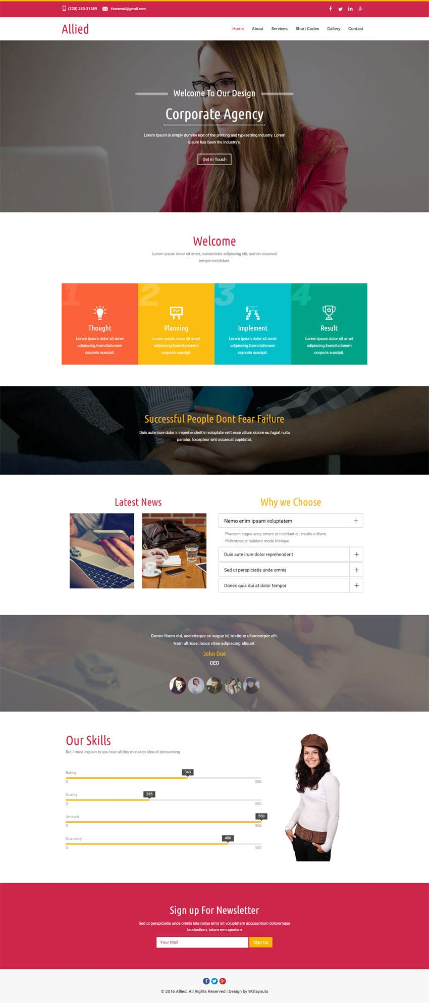 Allied a corporate Category Flat Bootstrap Responsive Web