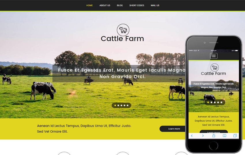 Cattle Farm an Agriculture Category Flat Bootstrap Responsive Web Template Mobile website template Free