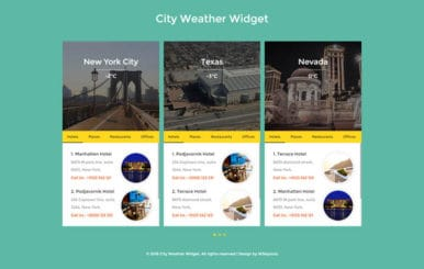 City Weather Widget Flat Responsive Widget Template