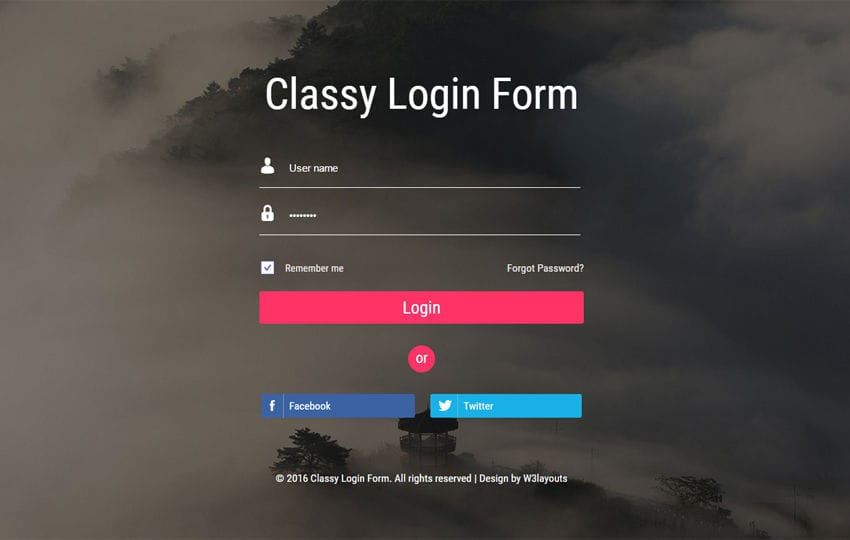 Classy Login form Widget Flat Responsive Widget Template Mobile website template Free
