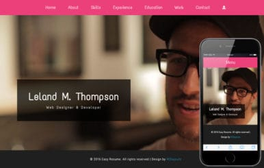 Easy Resume a Personal Category Flat Bootstrap Responsive Web Template