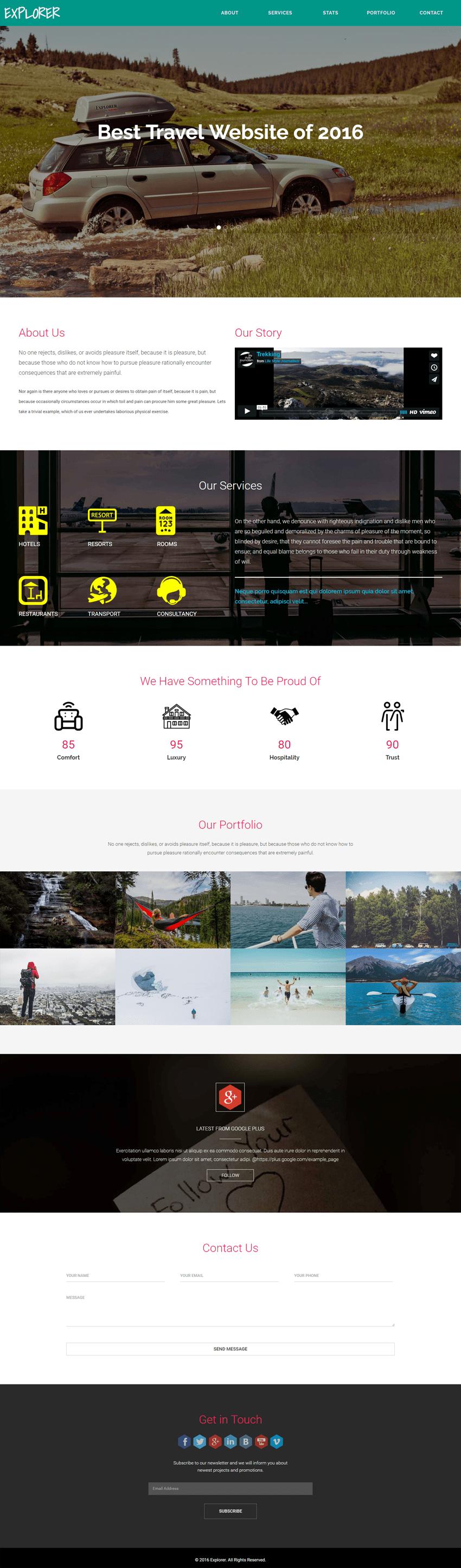 Explorer a Travel Category Flat Bootstrap Responsive Web