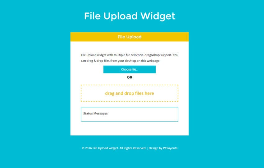 File Upload widget a Flat Responsive Widget Template