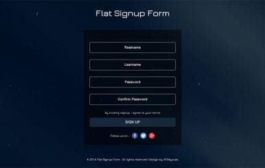 Flat Signup Form Flat Responsive Widget Template
