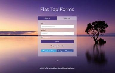 Flat Tab Forms Widget Flat Responsive Widget Template