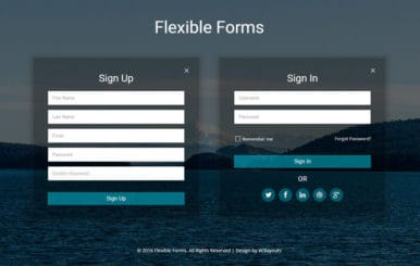 Flexible Forms a Flat Responsive Widget Template