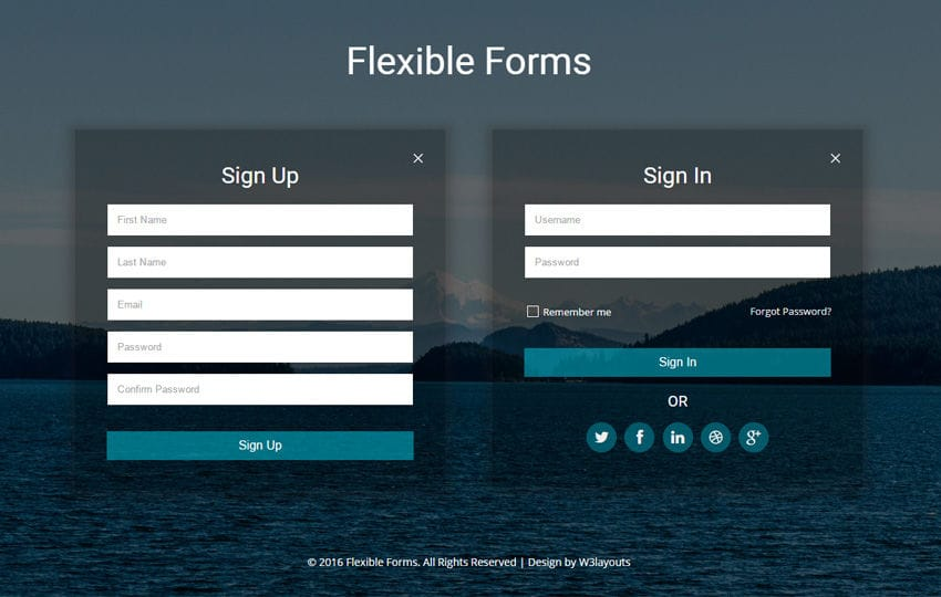 Flexible Forms a Flat Responsive Widget Template Mobile website template Free