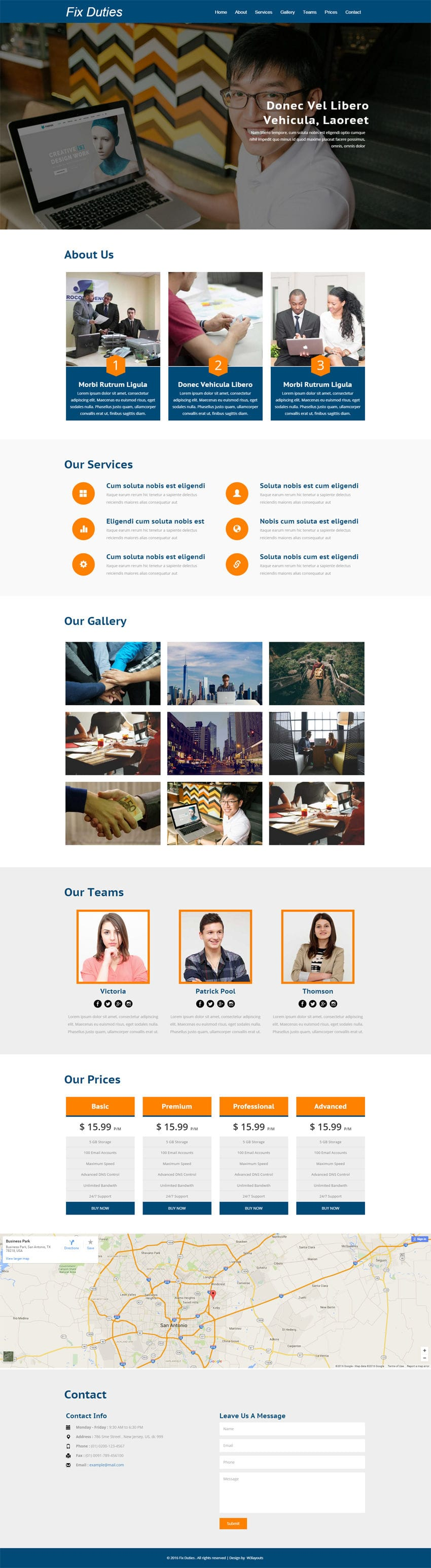 Fix Duties a Corporate Category Flat Bootstrap Responsive