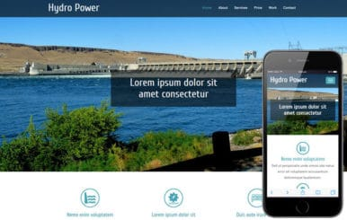 Hydro Power An Industrial Category Flat Bootstrap Responsive  Web Template