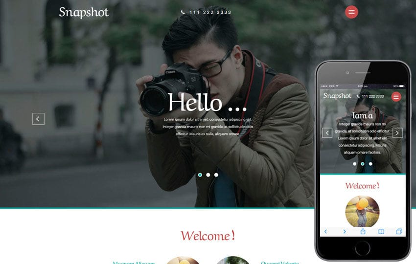 Snapshot a Photo Gallery Category Flat Bootstrap Responsive web Template