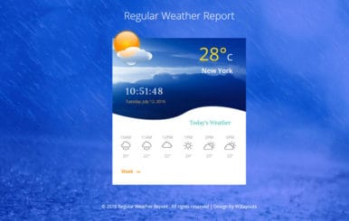 Regular Weather Report Flat Responsive Widget Template