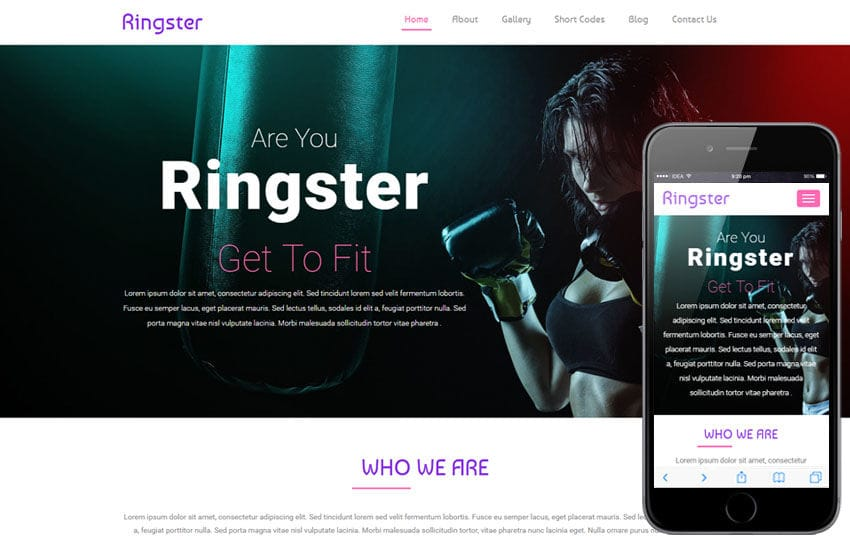 Ringster a Sports Category Flat Bootstrap Responsive Web Template