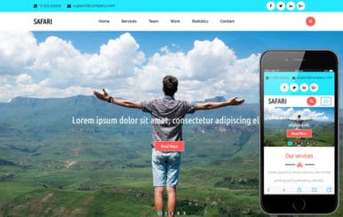 Safari A Travel Category Flat Bootstrap Responsive  Website Template