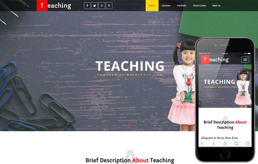 Teaching an Education School Category Flat Bootstrap Responsive Web Template Mobile website template Free