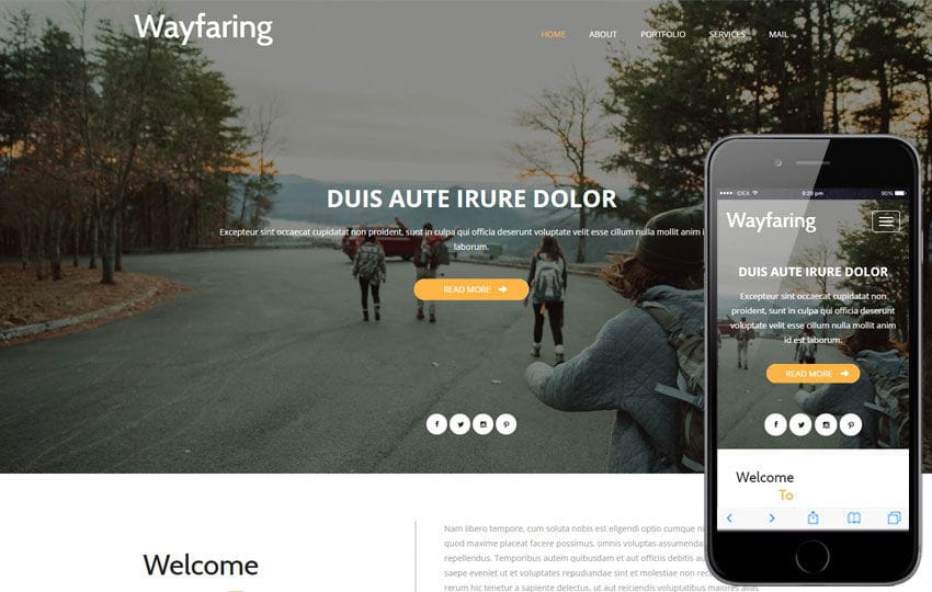 Wayfaring a Travel Category Flat Bootstrap Responsive Web Template Mobile website template Free