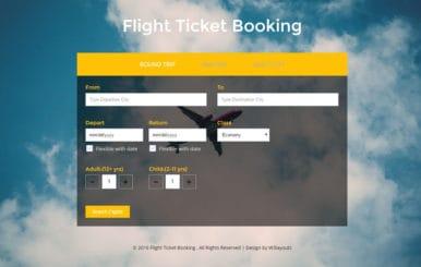 Flight Ticket Booking – Flat Responsive Widget Template