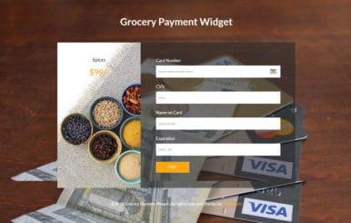 Grocery Payment Widget Flat Responsive Widget Template