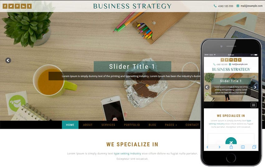 Business Strategy a Corporate Category Bootstrap Responsive Web Template