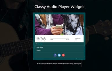 Classy Audio Player Widget Responsive Website Template