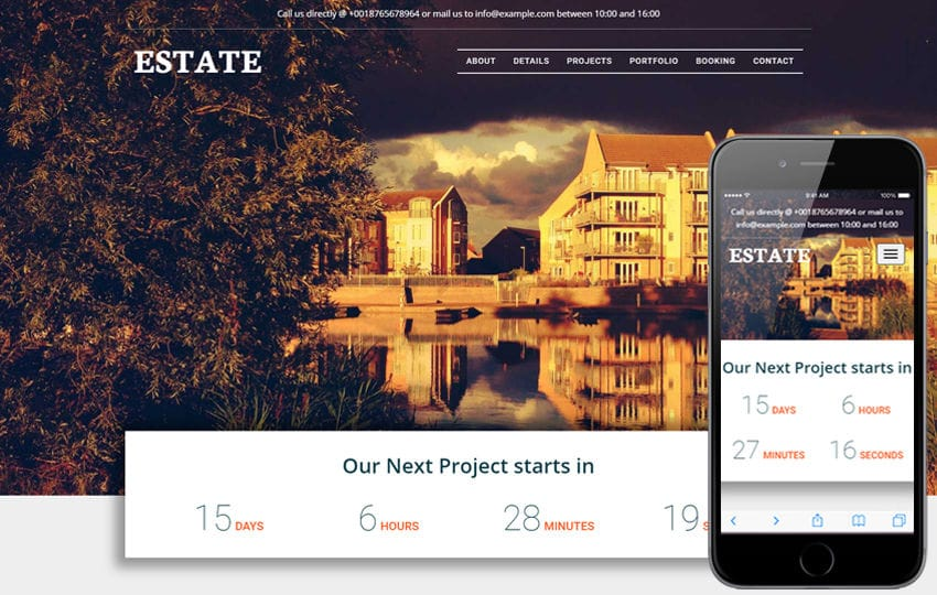 Estate a Real Estate Category Bootstrap Responsive Web Template Mobile website template Free