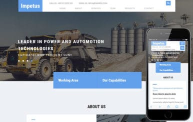 Impetus an Industrial Category Bootstrap Responsive Web Template