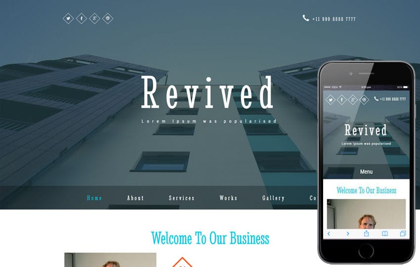 Revived a Corporate Category Bootstrap Responsive Web Template