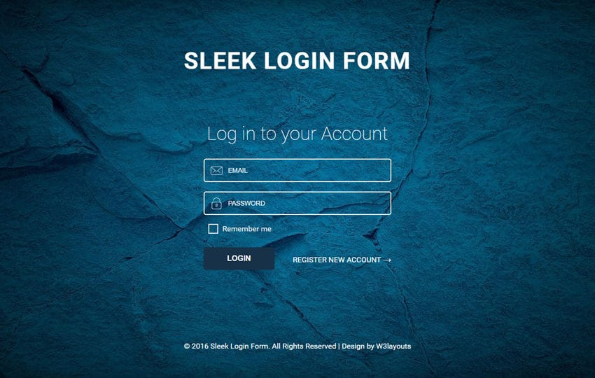 Sleek Login Form A Responsive Widget Template Mobile website template Free