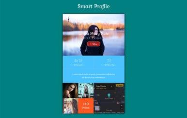 Smart Profile Flat Responsive Widget Template