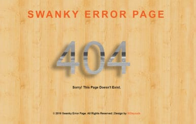 Swanky Error Page a Flat Responsive Widget Template
