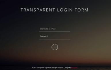 Transparent Login Form Responsive Widget Template