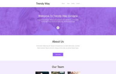 Trendy Way Newsletter Template a Email category Web Template