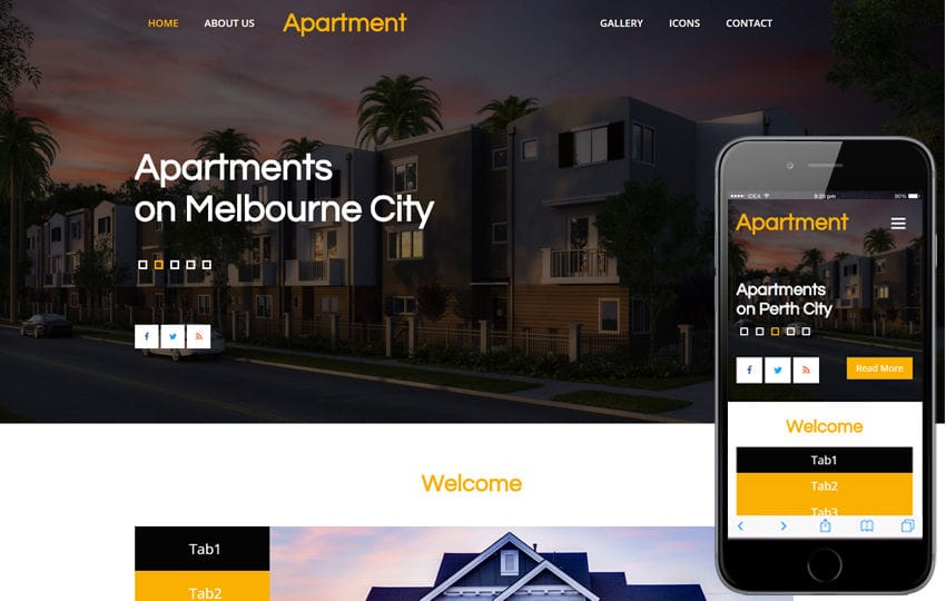 Apartment a Real Estate Category Flat Bootstrap Responsive Web Template Mobile website template Free