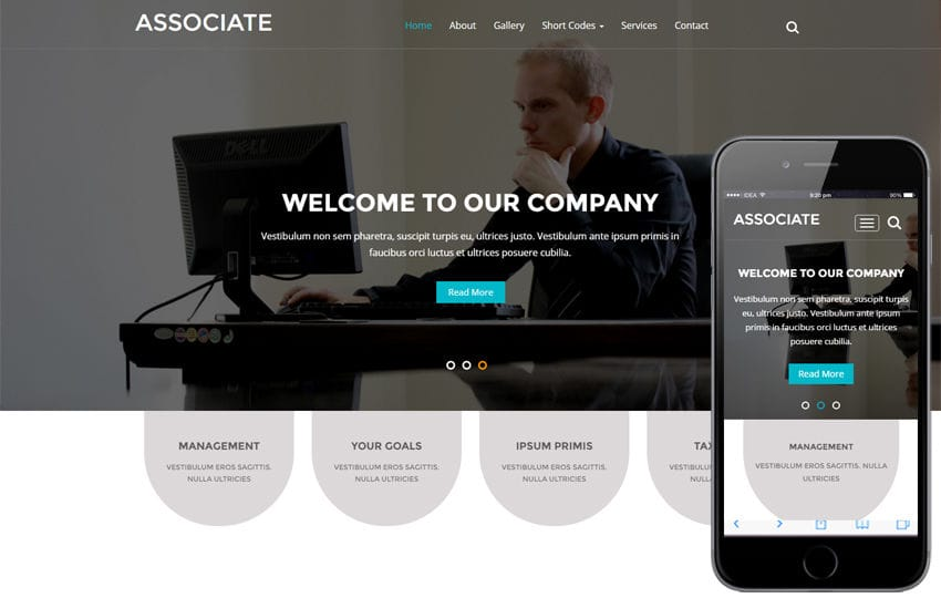 Associate a Corporate Business Category Flat Bootstrap Responsive Website Template