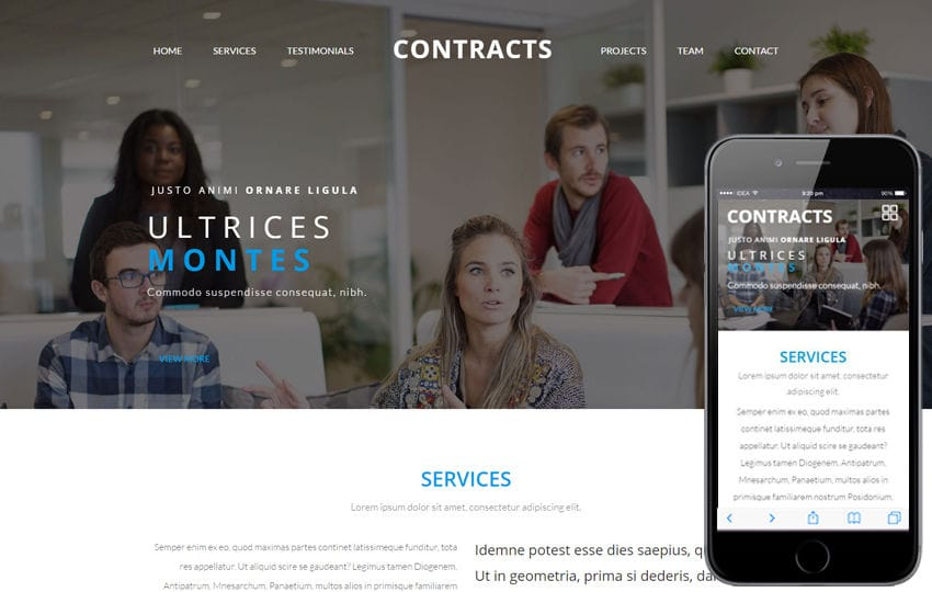Contracts a Corporate Business Category Flat Bootstrap Responsive web Template