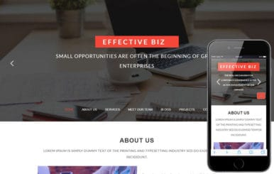Effective Biz a Corporate Business Category Bootstrap Responsive Web Template