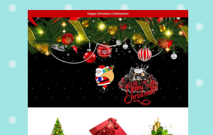 Happy Christmas a Newsletter Responsive Email Template Mobile website template Free