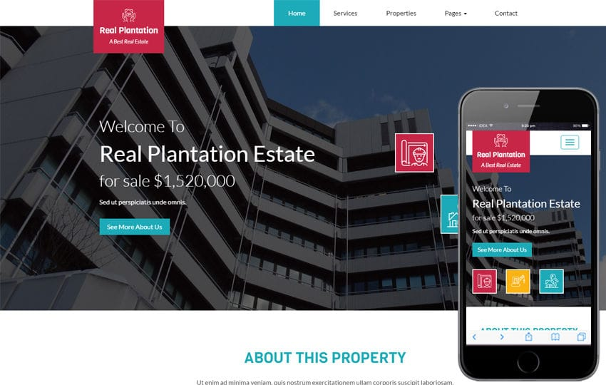 Real Plantation a Real Estate Category Flat Bootstrap Responsive Web Template