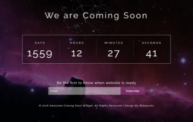 Awesome Coming Soon Widget Flat Responsive Widget Template