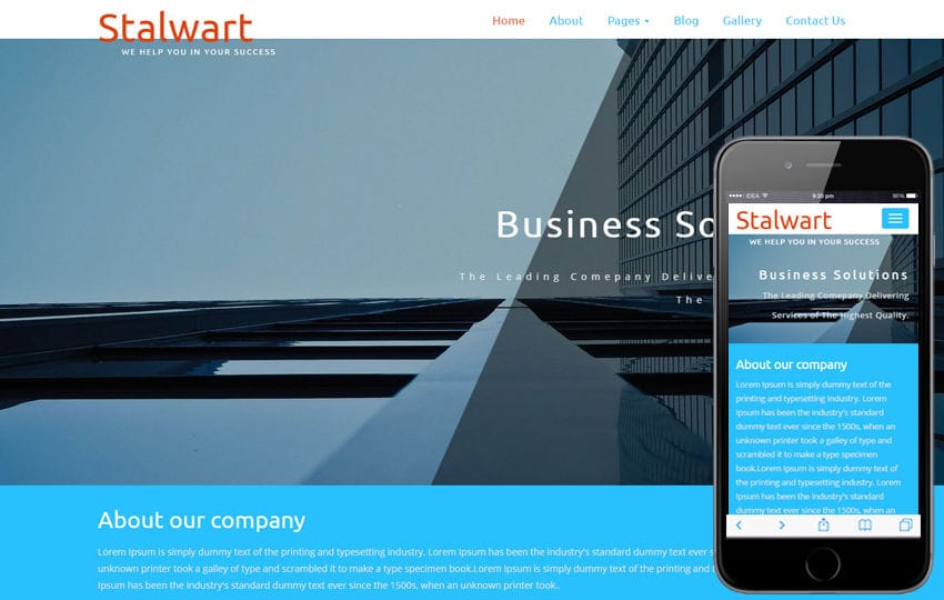 Stalwart a Corporate Category Flat Bootstrap Responsive Web Template Mobile website template Free