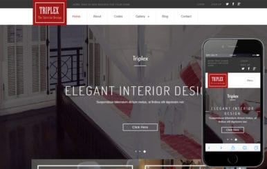 Triplex an Interior Category Flat Bootstrap Responsive Web Template