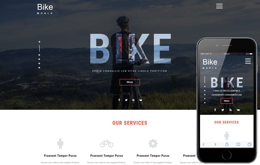 Bike World a Sports Category Flat Bootstrap Responsive Web Template