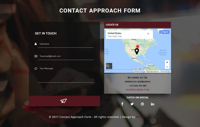 Contact Approach Form a Responsive Widget Template