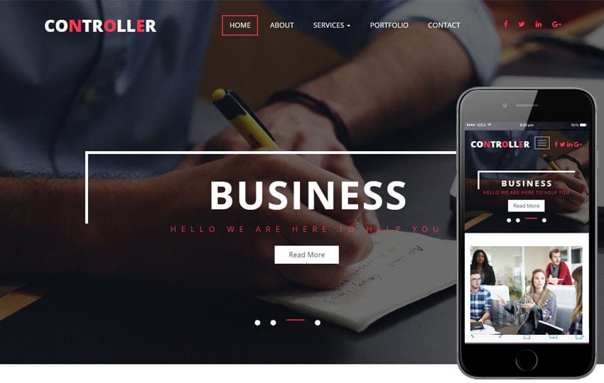 Controller a Corporate Category Flat Bootstrap Responsive Web Template