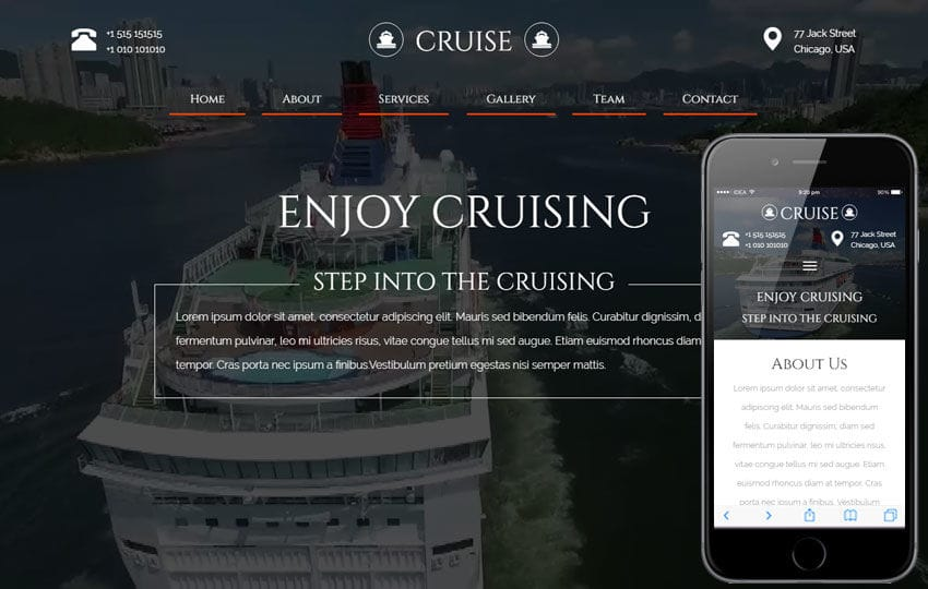 Cruise a Travel Category Flat Bootstrap Responsive Web Template