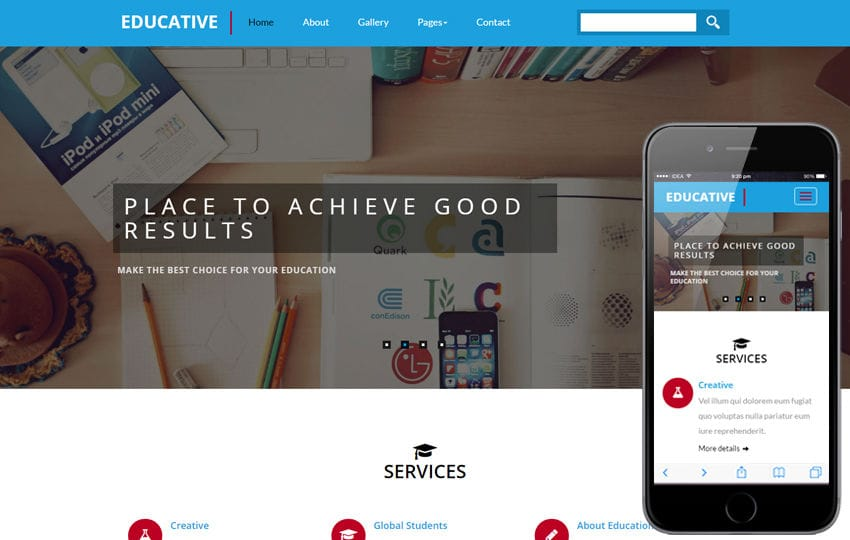 Educative an education Category Flat Bootstrap Responsive Web Template