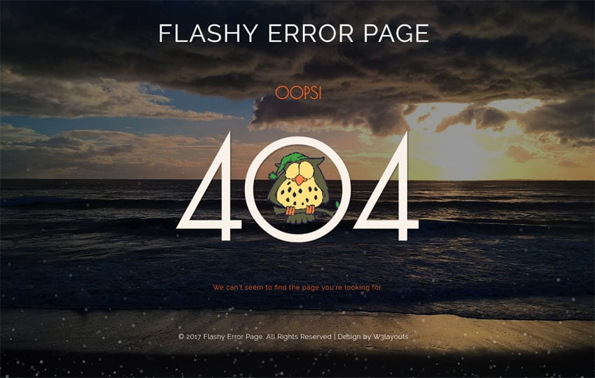Flashy Error Page a Flat Responsive Widget Template Mobile website template Free