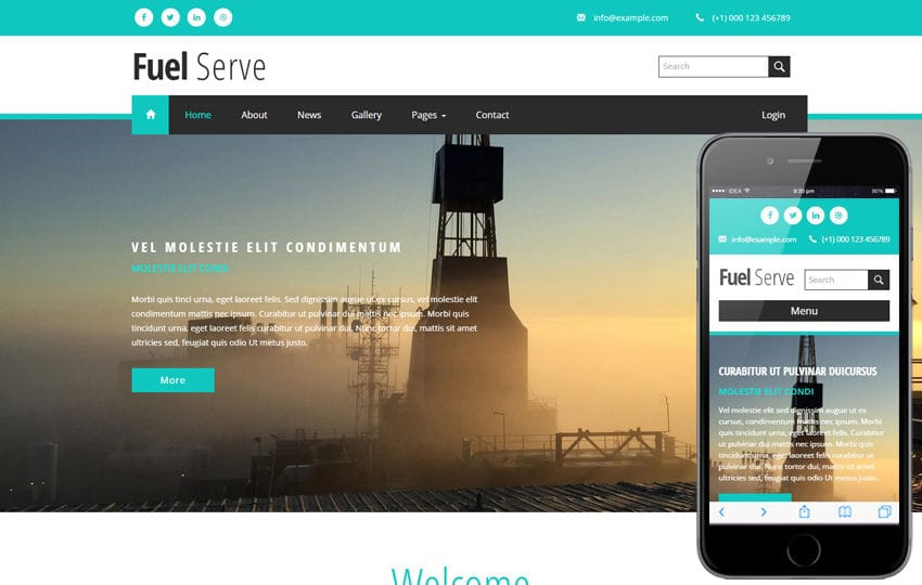 Fuel Serve an Industrial Category Flat Bootstrap Responsive Web Template