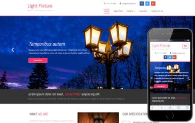 Light Fixture an Interior and Furniture Category Flat Bootstrap Responsive Web Template