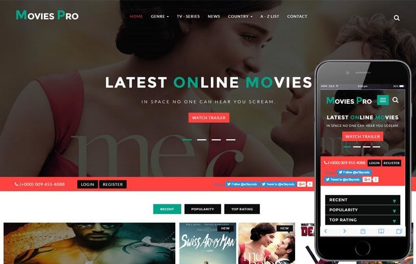 Movies Pro an Entertainment Flat Bootstrap Responsive WebTemplate Mobile website template Free