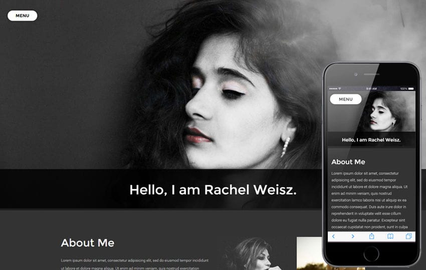 Photographer Portfolio Flat Bootstrap Responsive Web Template Mobile website template Free